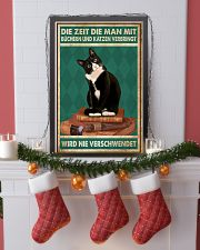 Time Spent With Books And Cats Is Never Wasted 24x36 Poster lifestyle-holiday-poster-4