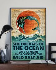 She Dreams Of The Ocean Late At Night 24x36 Poster lifestyle-poster-2
