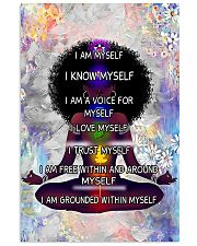 Black woman meditation 24x36 Poster front