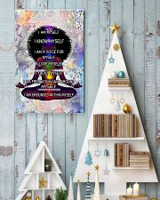 Black woman meditation 24x36 Poster lifestyle-holiday-poster-2