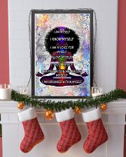 Black woman meditation 24x36 Poster lifestyle-holiday-poster-4