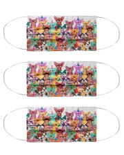 Color multi frenchie Cloth Face Mask - 3 Pack front