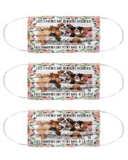 Dog make me happy Cloth Face Mask - 3 Pack front