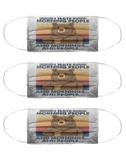 Camping bear Cloth Face Mask - 3 Pack front