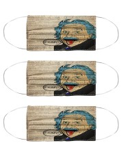 Albert Einstein Funny Face Cloth Face Mask - 3 Pack front