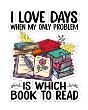 Love day is book to read Sticker - Single (Vertical) front
