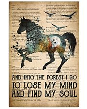 Horse Into The Forest I Go 24x36 Poster front