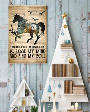 Horse Into The Forest I Go 24x36 Poster lifestyle-holiday-poster-2