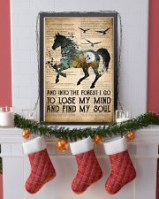 Horse Into The Forest I Go 24x36 Poster lifestyle-holiday-poster-4