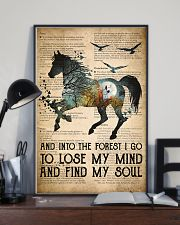 Horse Into The Forest I Go 24x36 Poster lifestyle-poster-2