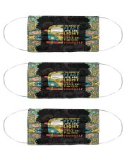 I'm mostly peace love and light and a little Go Cloth Face Mask - 3 Pack front