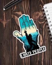 Bigfoot i hate people Sticker - Single (Vertical) aos-sticker-single-vertical-lifestyle-front-05