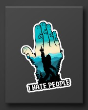 Bigfoot i hate people Sticker - Single (Vertical) aos-sticker-single-vertical-lifestyle-front-08