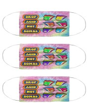 Drop acid not bombs Cloth Face Mask - 3 Pack front