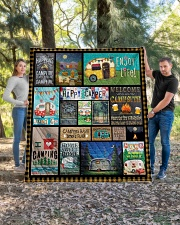 """Camping Happy Quilt 70""""x80"""" - Queen aos-quilt-70x80-lifestyle-front-04"""