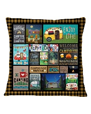 Camping Happy Square Pillowcase tile