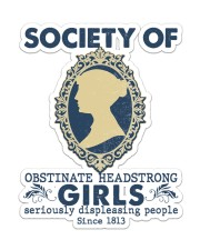 Society of obstinate headstrong girls Sticker - Single (Vertical) front