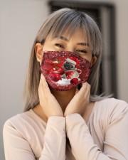 pug Christmas dog Cloth Face Mask - 3 Pack aos-face-mask-lifestyle-17