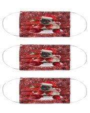 pug Christmas dog Cloth Face Mask - 3 Pack front
