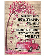 We don't know how strong we are 11x17 Poster front