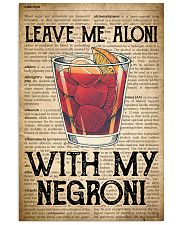 Negroni Old Dictionary 24x36 Poster front