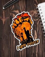 Bigfoot alien hate people Sticker - Single (Vertical) aos-sticker-single-vertical-lifestyle-front-05