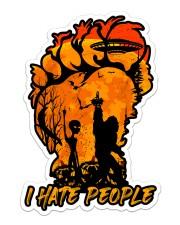 Bigfoot alien hate people Sticker - Single (Vertical) front