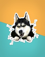 Funny dog breaking glass Sticker - Single (Vertical) aos-sticker-single-vertical-lifestyle-front-02