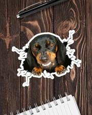 Funny dog breaking glass Sticker - Single (Horizontal) aos-sticker-single-horizontal-lifestyle-front-05