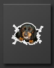 Funny dog breaking glass Sticker - Single (Horizontal) aos-sticker-single-horizontal-lifestyle-front-08