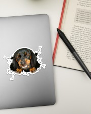 Funny dog breaking glass Sticker - Single (Horizontal) aos-sticker-single-horizontal-lifestyle-front-13