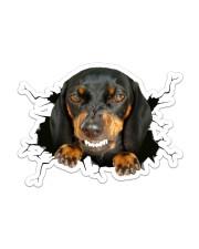 Funny dog breaking glass Sticker - Single (Horizontal) front