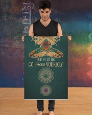 I'm mostly peace love and light Yoga Mat 24x70 (vertical) aos-yoga-mat-lifestyle-12
