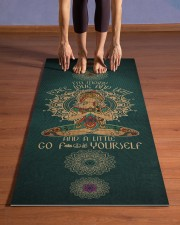 I'm mostly peace love and light Yoga Mat 24x70 (vertical) aos-yoga-mat-lifestyle-26