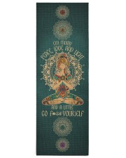 I'm mostly peace love and light Yoga Mat 24x70 (vertical) front