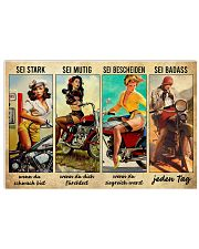 Motorbike be strong when you are weak 17x11 Poster front
