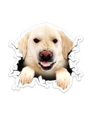 Funny labrado breaking glass Sticker - Single (Vertical) front