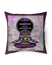 Black woman meditation Indoor Pillow tile