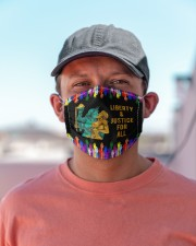 LGBT Liberty Justice For All Cloth Face Mask - 3 Pack aos-face-mask-lifestyle-06