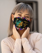 LGBT Liberty Justice For All Cloth Face Mask - 3 Pack aos-face-mask-lifestyle-17
