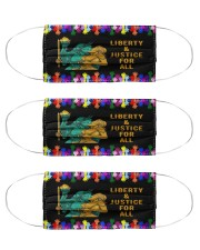 LGBT Liberty Justice For All Cloth Face Mask - 3 Pack front