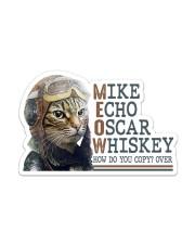 Mike Echo Oscar Whiskey Sticker - Single (Vertical) front