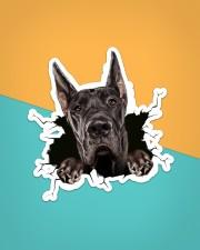 Funny greatdane breaking glass Sticker - Single (Vertical) aos-sticker-single-vertical-lifestyle-front-02