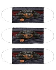 Dachshund back Cloth Face Mask - 3 Pack front