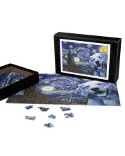 Golden Retriever Van Gogh 250 Piece Puzzle (horizontal) aos-jigsaw-puzzle-250-pieces-horizontal-front-07