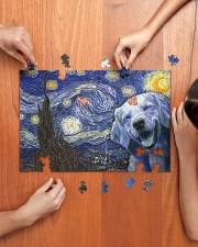 Golden Retriever Van Gogh 250 Piece Puzzle (horizontal) aos-jigsaw-puzzle-250-pieces-horizontal-lifestyle-front-07