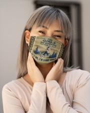 Some Girls Go Running And Drink I'm Some Girls Cloth Face Mask - 3 Pack aos-face-mask-lifestyle-17