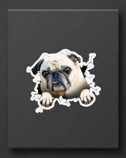 Funny pug breaking glass Sticker - Single (Vertical) aos-sticker-single-vertical-lifestyle-front-08