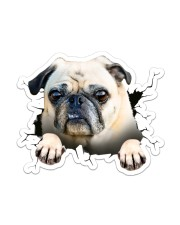 Funny pug breaking glass Sticker - Single (Vertical) front
