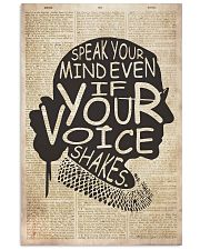 RBH speak your mind even if your voice shakes 24x36 Poster front